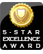 We were awarded the 5 Star Excellence Award from ShopperApproved.com